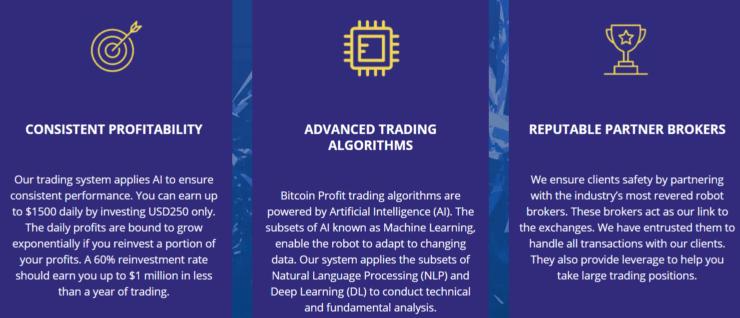 bitcoin profit features