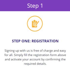 step 1 registration bitcoin code